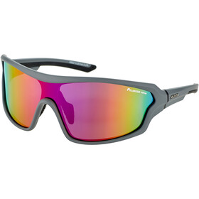 Alpina Lyron Shield P Lunettes, grey matt-black/purple mirror